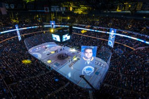 The NHL's Buffalo Sabres have implemented on-ice and banner projection systems at First Niagara Center.