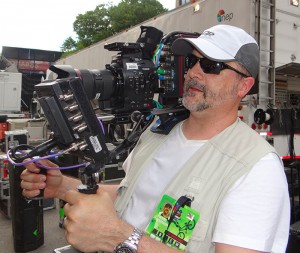 The RED 4K camera in a Steadicam configuration at the X Games Vert competition in downtown Austin