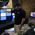 DVSport Software's Justin Rudd at the new judges replay facility at CoTA