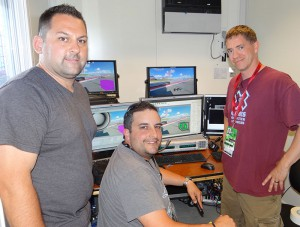 The Emerging Technology team and the ncam setup: (from left) Michael Zigmont, Larry Jones, and Michael Gay