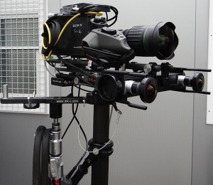 The ncam bar is integrated into a Steadicam rig this week at X Games.