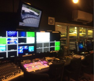 University of Washington's video control room, located in Alaska Airlines Arena, features a variety of gear from Ross, NewTek, Imagine Communications, and more.