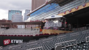 Fox Sports' primary set is on the main Target Field concourse just down the right-field line.