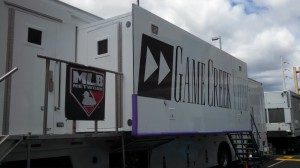 For all on-site studio coverage, MLB Network is working out of Game Creek Video's Victory mobile production unit.