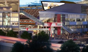 A rendering of the exterior of the renovated FirstEnergy Stadium