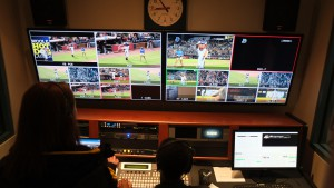 The Bulls built a new control room that serves as the engine for both the student-produced television and the in-venue video board productions.