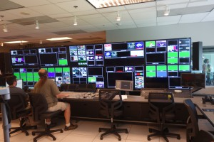 The upgraded control room can send live replays to the videoboards.