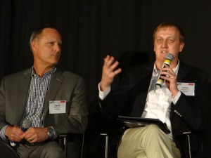 Omnigon's David Nugent (left) and Akamai's Corey Halverson