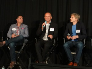 From left: Mass Relevance's Jesse Redniss, Ixonos's Andrew Knight, and Fanatix's Will Muirhead