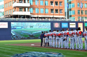 A $20 million renovation to Durham Bulls Athletic Park included a a 28-ft.-62-ft. video display.