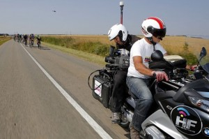 Euro Media Group used LDX WorldCam cameras from Grass Valley from five motorcycles that followed the action throughout each stage.