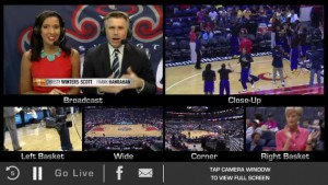 Mystics Live mobile application allows fans to select from multiple isolated camera angles.