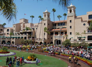 Del Mar Race Track is located in San Diego, Calif.