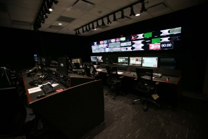 Crimson Tide Productions control room inside the new Digital Media Center
