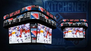 The Kitchener Rangers have added a new centerhung display at Kitchener Memorial Auditorium.