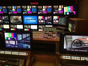 A look at the front bench area in the new NEP ND1 production unit that will be home for NBC's Sunday Night Football.