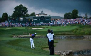 CBS Sports let viewers at home see just how dark it was during the closing moments of the 2014 PGA Championship.