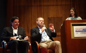 From left: Levels Beyond's Nick Rhodes, Nexidia's Chad Rounsavall, and moderator Christy King, of UFC/Zuffa