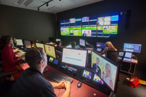 One of RazorVision's new control rooms on Aug. 14, just minutes prior to the first live event produced for the SEC Network