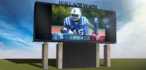 A new video display will debut at Duke's Wallace Wade Stadium in 2015.
