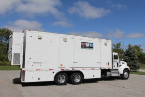 One of two trucks rebuilt to meet live concert-programming demand, including the Yahoo! On the Road music series