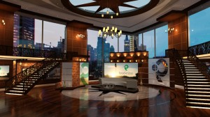 BACK9NETWORK's new Connecticut-based studios were designed in collaboration by FX Design Group and Hybrid TV.