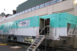 Dome's Unite truck is making its debut this postseason for MLB International.