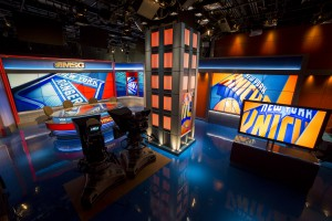 MSG Network debuted its new studio space during a Knicks preseason game on Oct. 8.   Photo: Avi Gerver/MSG Photos