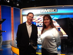 SVP and Executive Producer Jeff Filippi (left) and VP, Network Operations Jackie Lyons,  played major roles in the development of MSG Network's new studio.