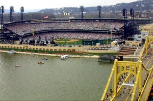 ESPN will place a camera upon the famous Roberto Clemente Bridge, capturing a unique angle of the beautiful PNC Park in Pittsburgh.