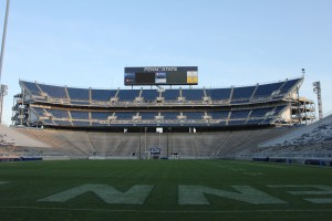 The Nittany Lions' Beaver Stadium, the second-largest stadium in the Western hemisphere, received new HD sound system in an off-season upgrade.