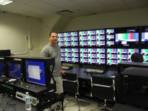 Howie Rosenthal, VER, director of broadcast with the flypack VER supplied to ESPN.