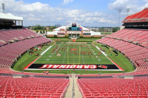 Papa John's Cardinal Stadium at the University of Louisville has a new Meyer Sound LEO large-scale linear line-array system.