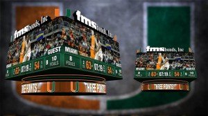 University of Miami added an LED system to BankUnited Center.