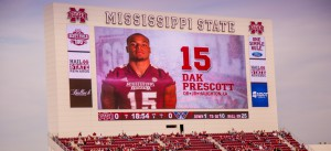BMG relied on a portable AJA Ki Pro Quad 4K/UltraHD 2K/HD ProRes recorder on its project with Mississippi State football.