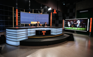 University of Tennesse has introduced a new studio that features a 19-ft. wide anchor desk.