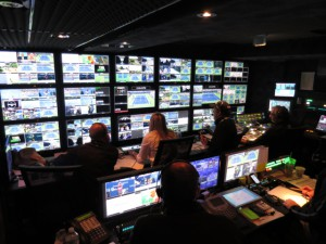 F&F Productions' GTX17 mobile unit, which debuted at the US Open tennis tournament, housed ESPN's and CBS's productions.