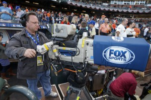One of Fox's record-high 38 game-coverage cameras at the World Series