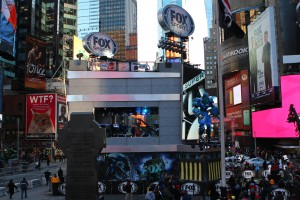 Fox Sports' towering Super Bowl Blvd. set in Times Square