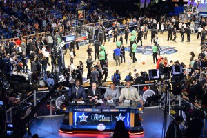 The TNT NBA Tip-Off set inside the Smoothie King Center in New Orleans
