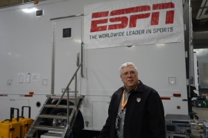 Bob Braunlich, ESPN, VP of events, inside the truck compound at AT&T Stadium.