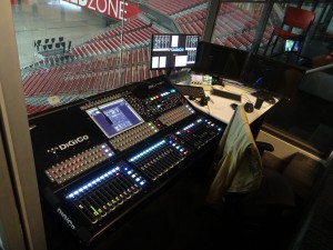 By moving the audio console closer to the bowl, the operator can better respond to crowd noise and energy.