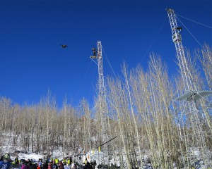 One of two Flycams ESPN has deployed at Buttermilk Mountain