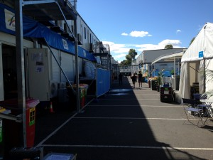 The Australian Open compound feels reminiscent of World Cup compounds.