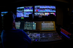 Gearhouse Broadcast has used up to nine Lawo mc²56 audio mixing consoles during Tennis Australia's coverage of the Australian Open.
