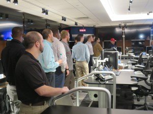 The students' tour included the NBA's new Replay Center, as well as behind-the-scenes looks at the TOC, data center, and logging area.