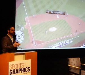 MLBAM's Joe Inzerillo illustrates data-driven player tracking.
