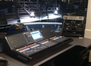 The Yamaha CL5 Digital Audio Console inside the MTS Centre control room