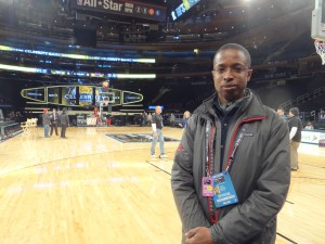 Turner Sports' Chris Brown on the floor at Madison Square Garden.
