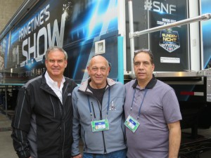 Ken Goss, John Roche, and Tim DeKime have been at the center of production planning for tonight's big game.